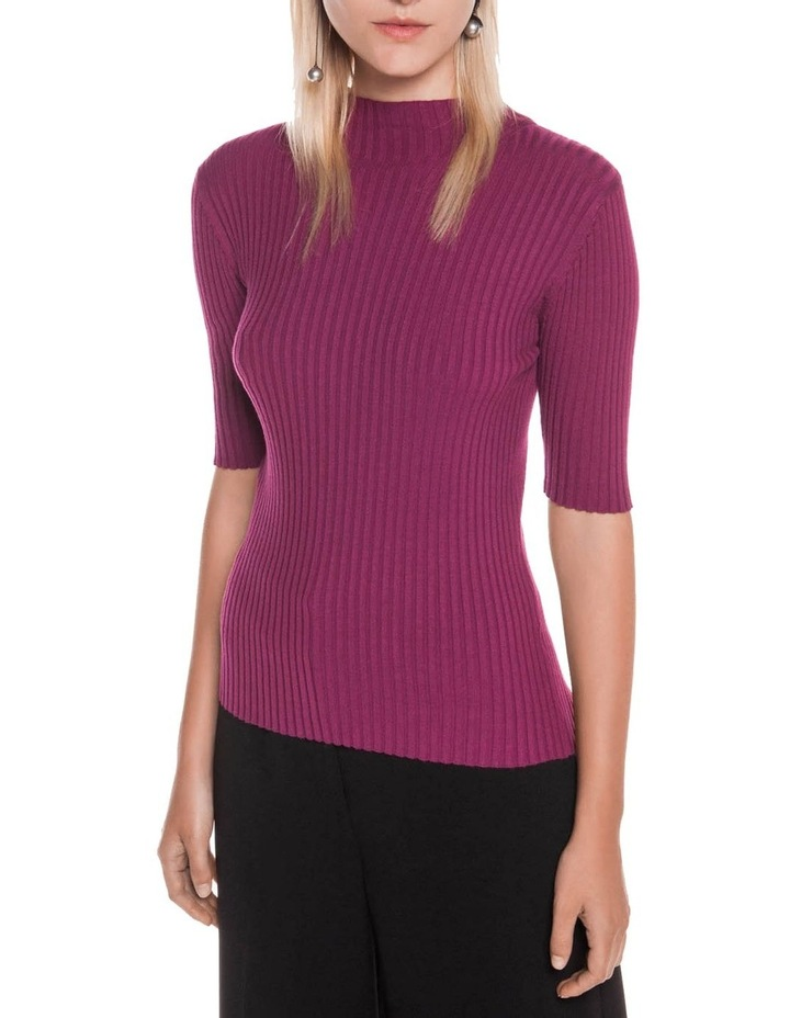 Funnel Neck Rib Knit image 2