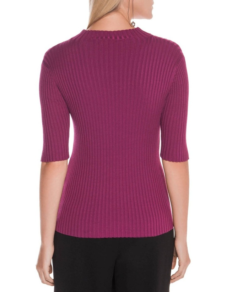 Funnel Neck Rib Knit image 3