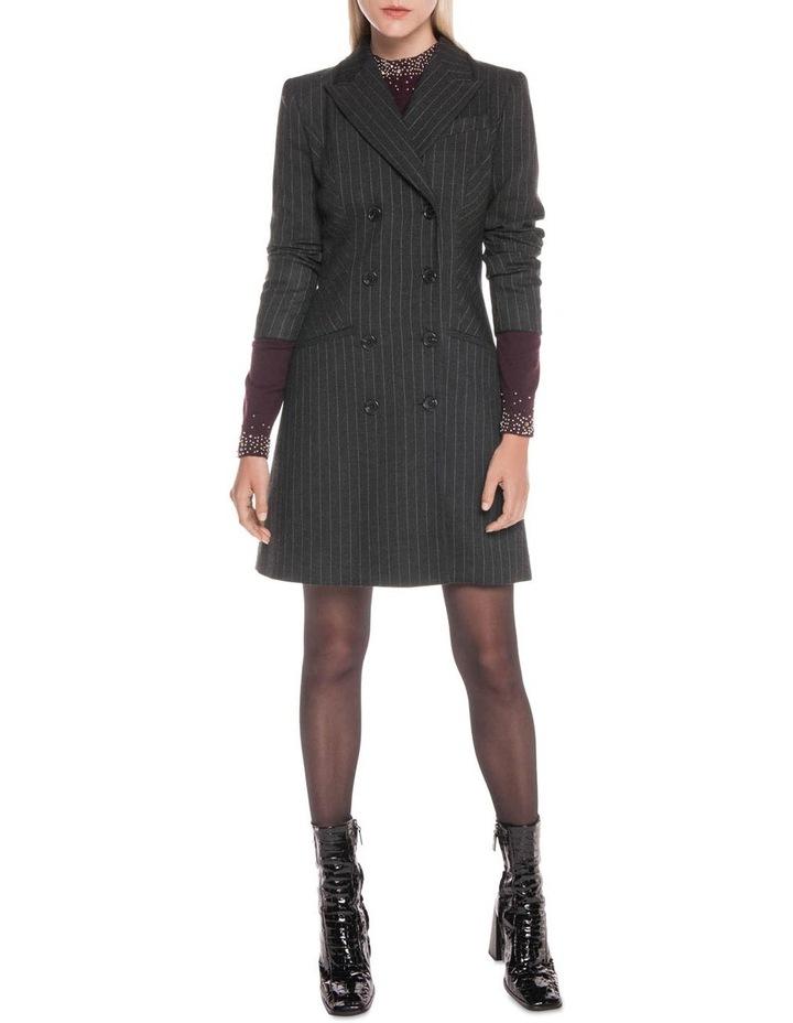 Flannel Pinstripe Blazer Dress image 1