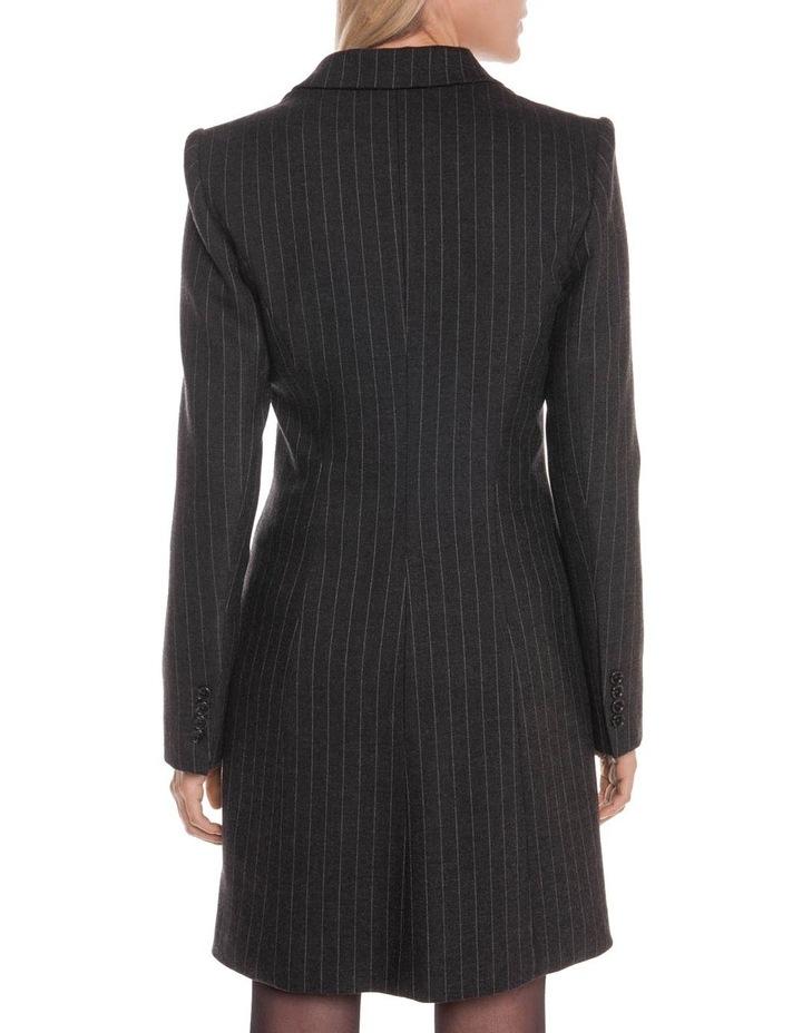 Flannel Pinstripe Blazer Dress image 3