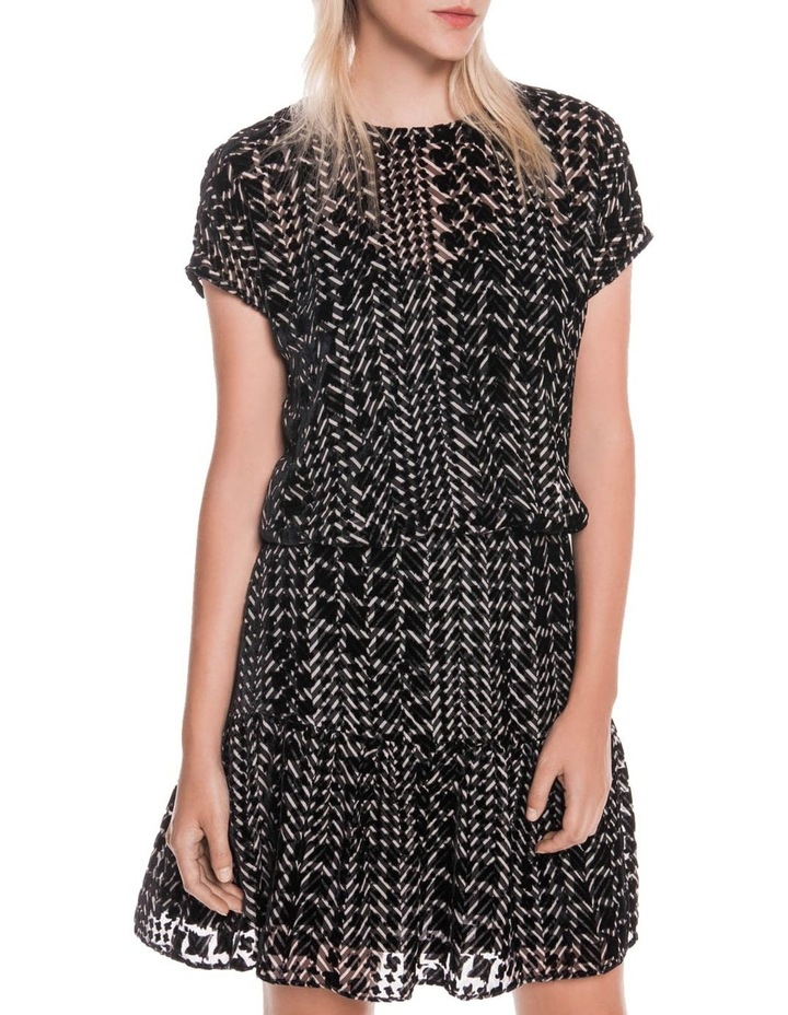 Silk Houndstooth Burnout Dress image 2
