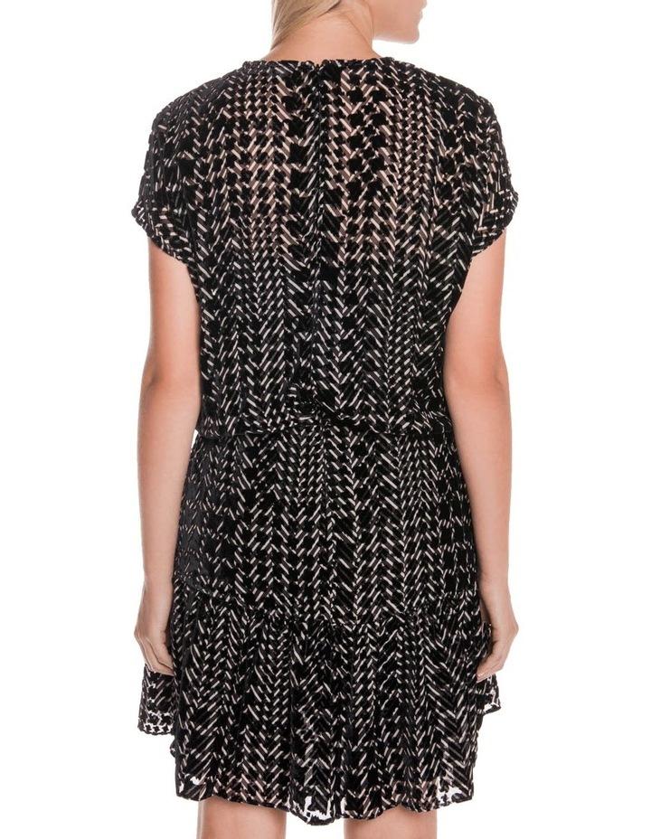 Silk Houndstooth Burnout Dress image 3