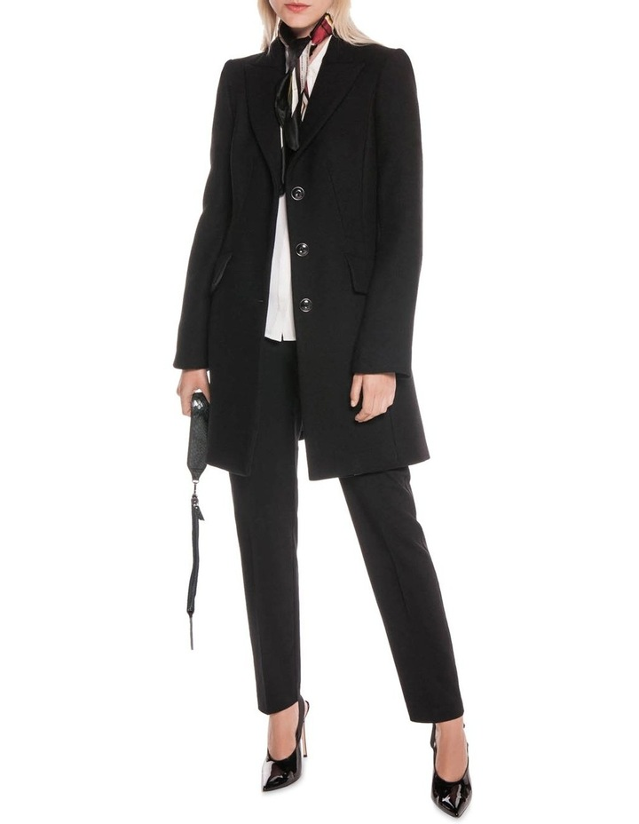 Black Twill Relaxed Coat image 1