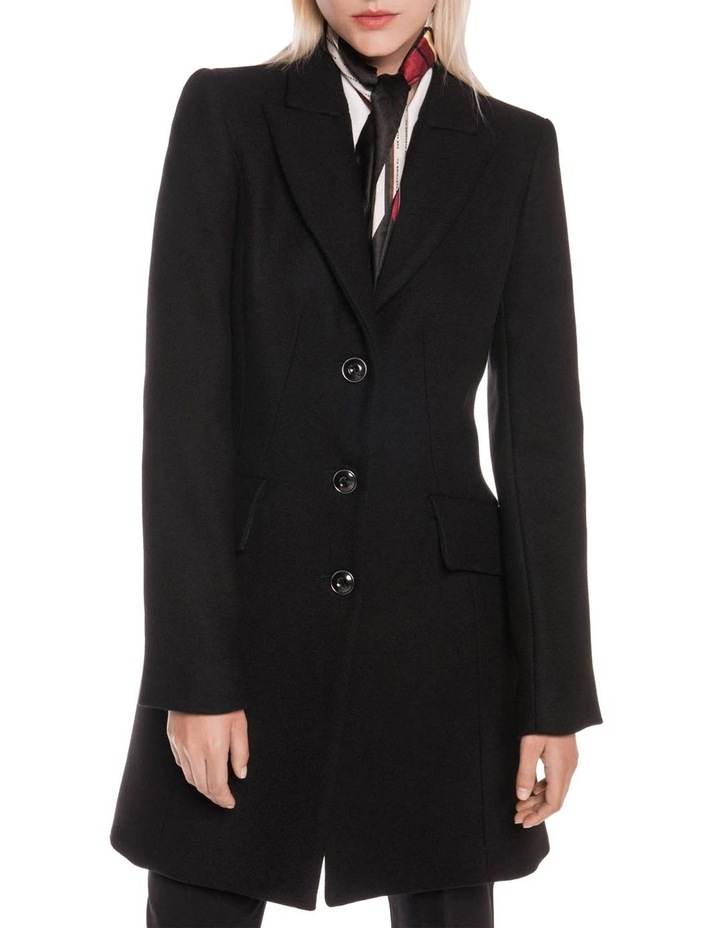 Black Twill Relaxed Coat image 2
