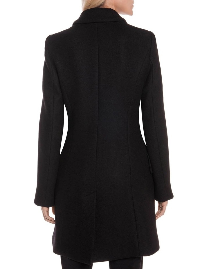 Black Twill Relaxed Coat image 3