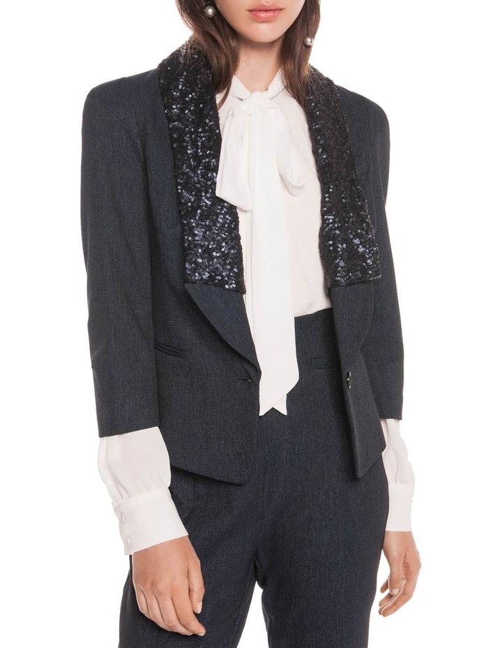 Textured Ink Spliced Sequin Jacket image 2