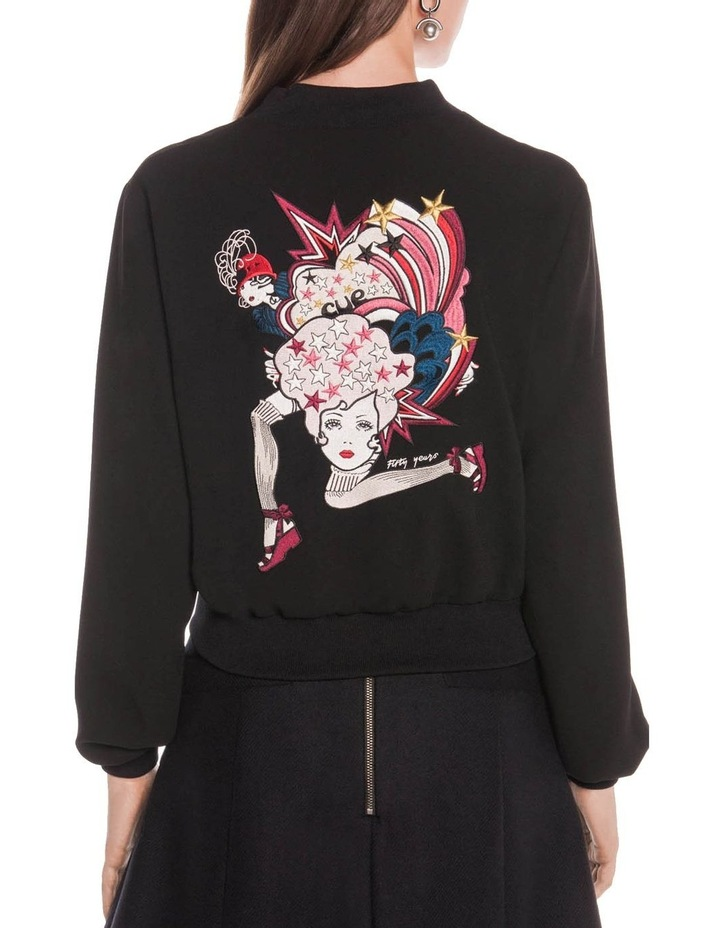 Embroidered Sweetheart Bomber Jacket image 3
