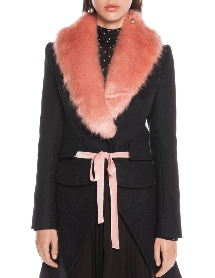 Faux Fur Shawl Collar Jacket image 2