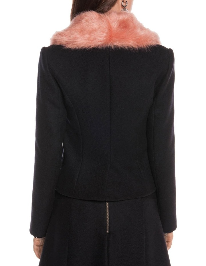 Faux Fur Shawl Collar Jacket image 4