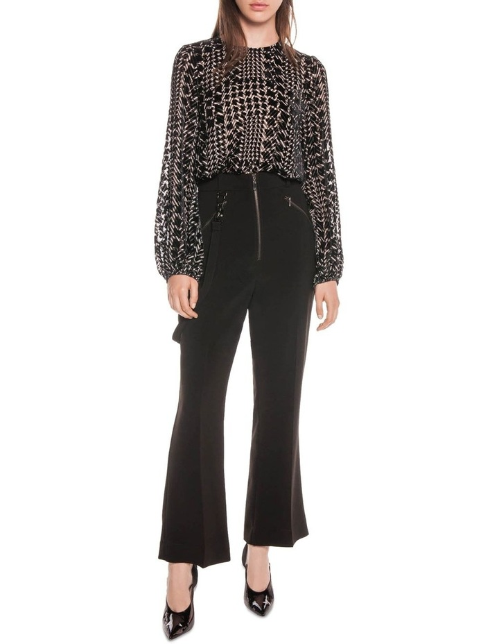 Silk Houndstooth Burnout Top image 1