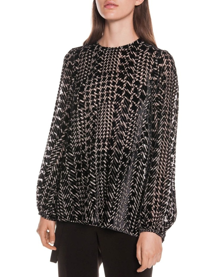 Silk Houndstooth Burnout Top image 2