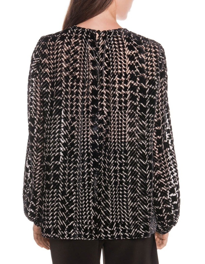Silk Houndstooth Burnout Top image 3