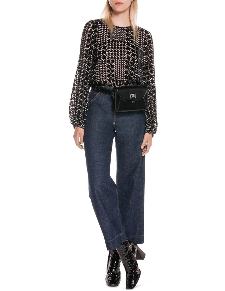 Silk Houndstooth Burnout Top image 4