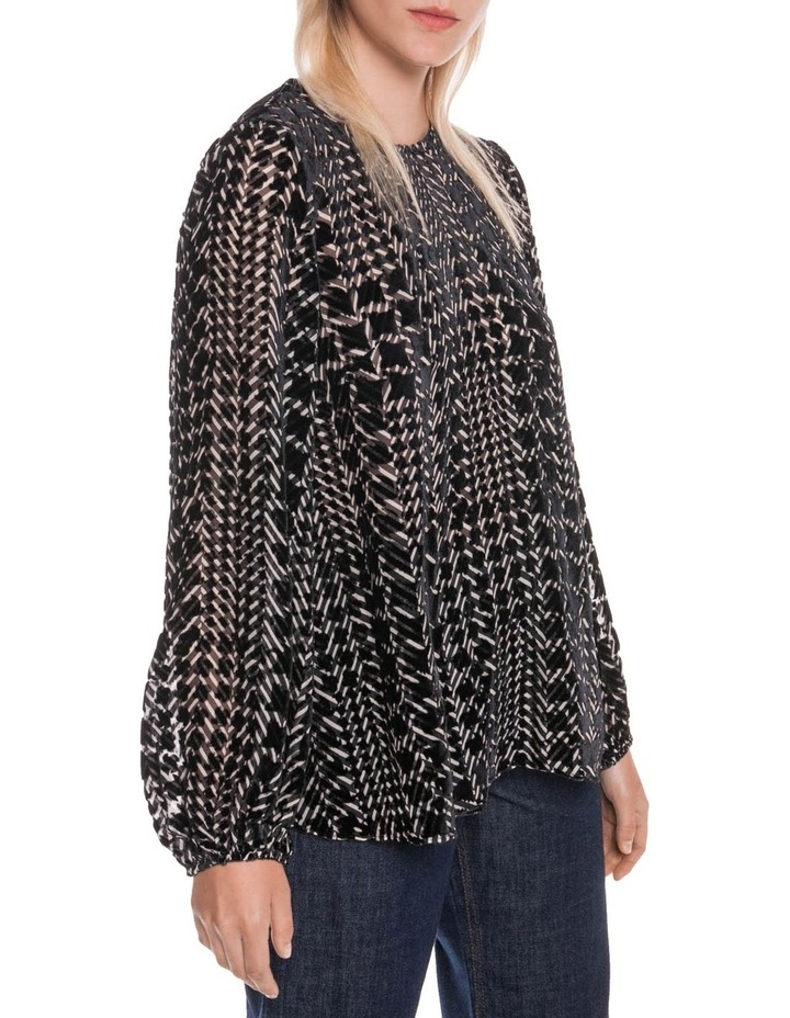 Silk Houndstooth Burnout Top image 5