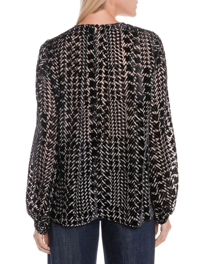 Silk Houndstooth Burnout Top image 6