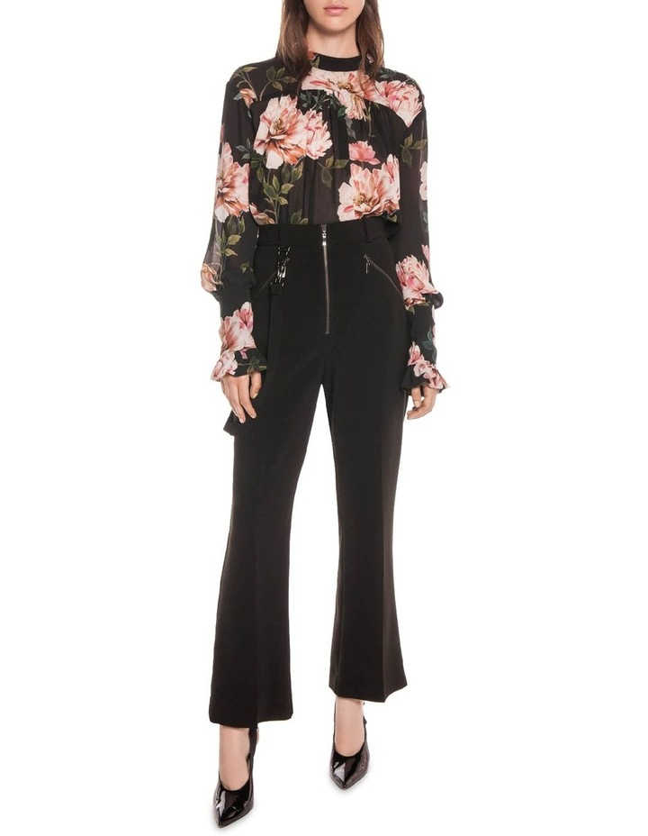 Textured Rose Blouson Sleeve Blouse image 1