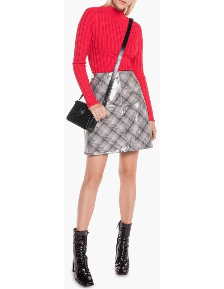 Coated Check Mini Skirt image 1
