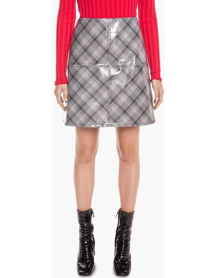 Coated Check Mini Skirt image 2
