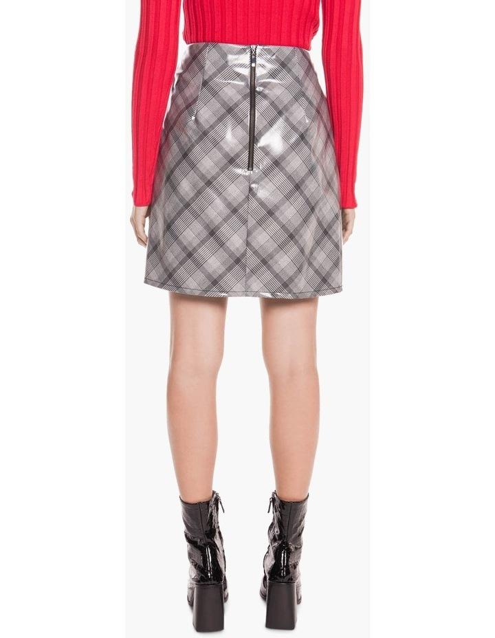 Coated Check Mini Skirt image 3