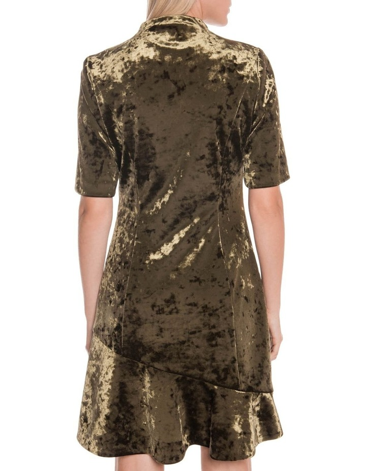 Crushed Velvet Asymmetric Frill Dress image 3