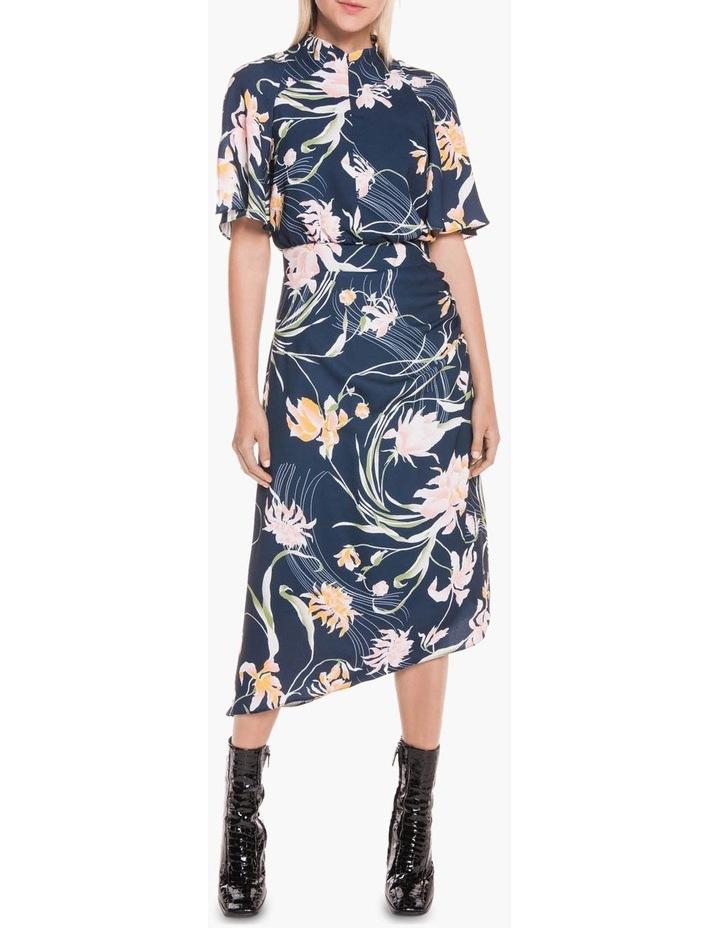 Oriental Lily Asymmetric Dress image 1