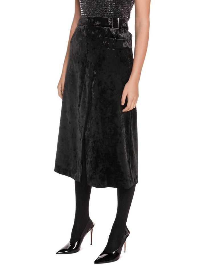 Crushed Velvet Midi Wrap Skirt image 2