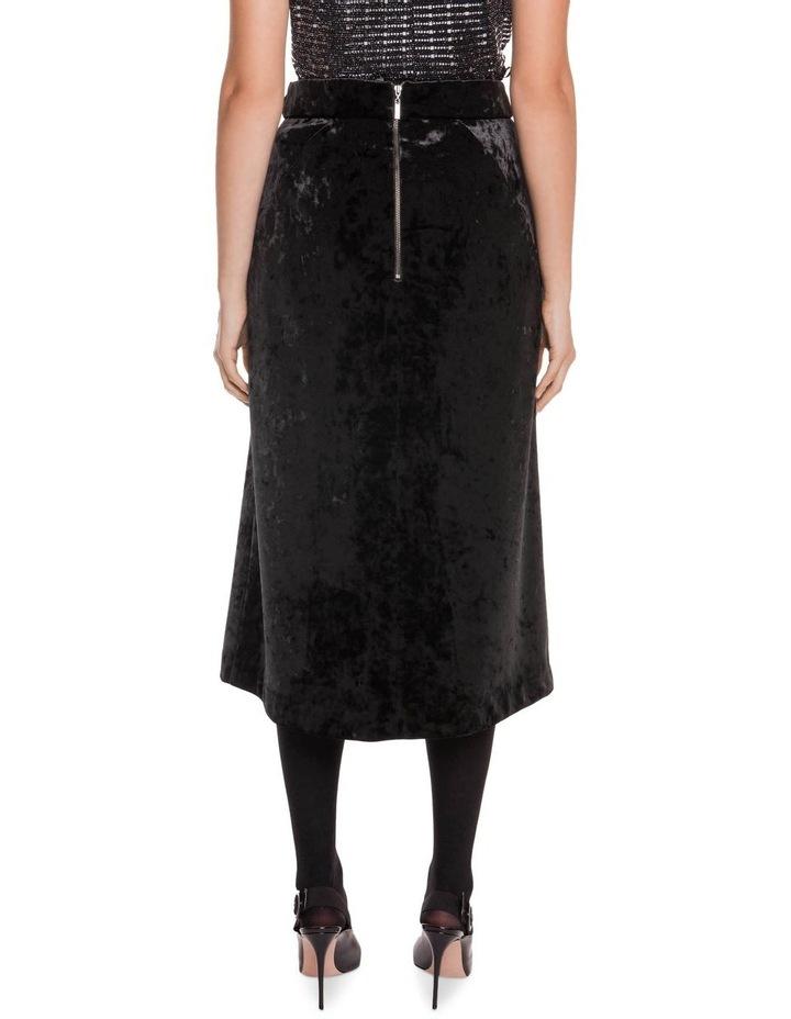 Crushed Velvet Midi Wrap Skirt image 3