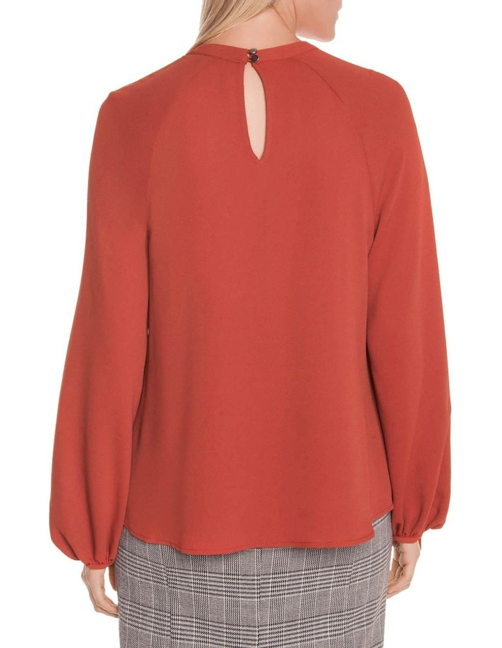 Drapey Crepe Ruched Sleeve Top image 3