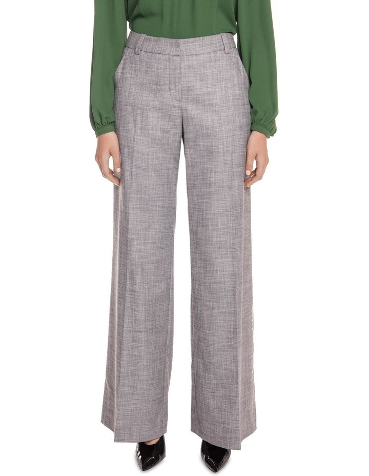 Grey Melange Wide Leg Pant image 2