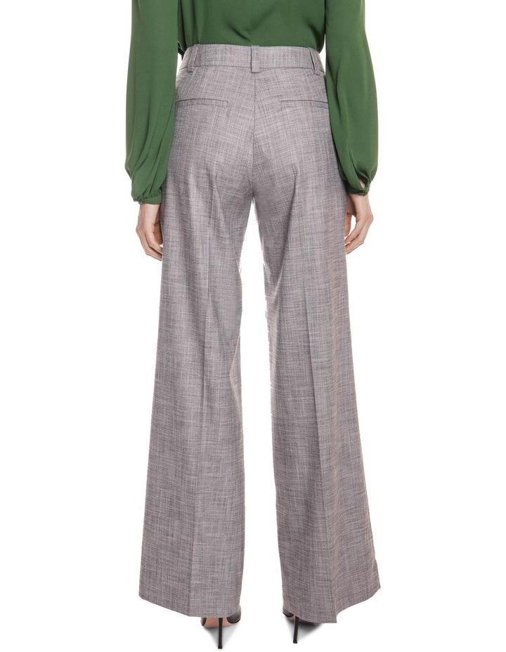 Grey Melange Wide Leg Pant image 3