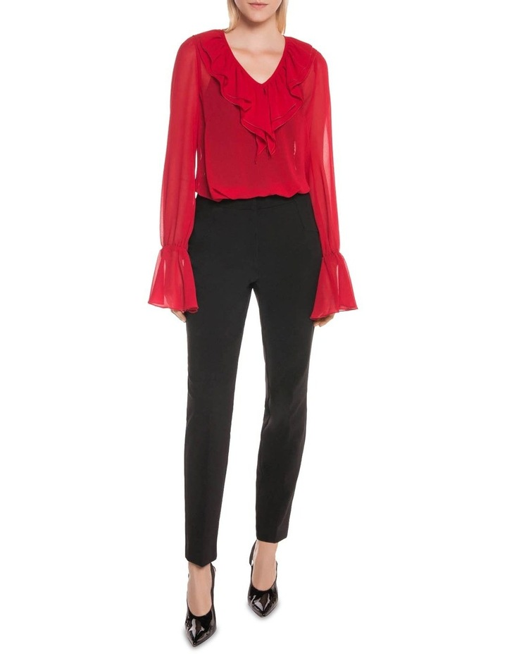 Rouge Georgette Ruffle Blouse image 1