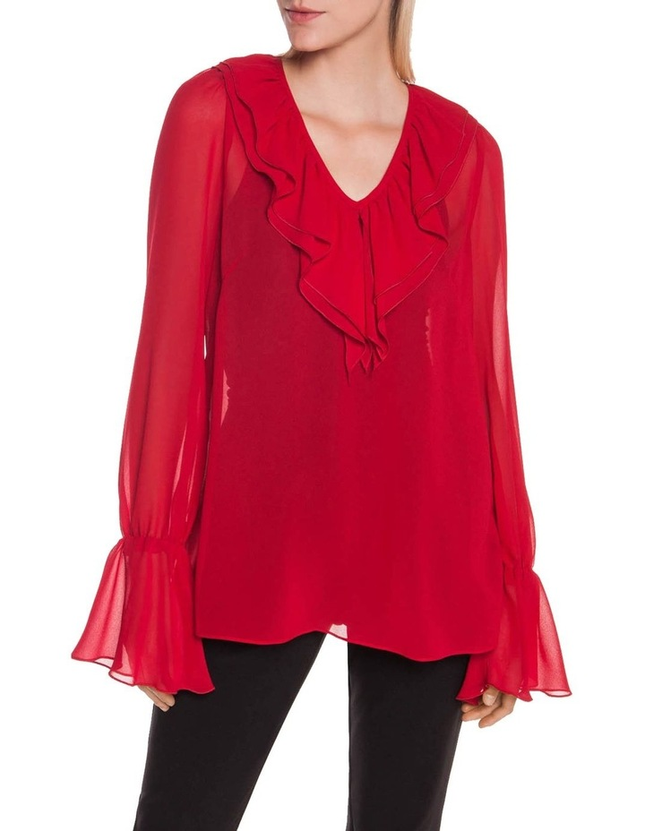 Rouge Georgette Ruffle Blouse image 2