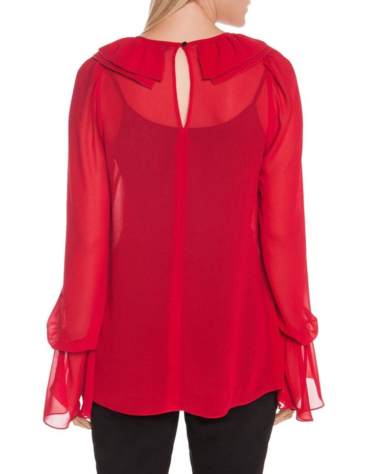 Rouge Georgette Ruffle Blouse image 3