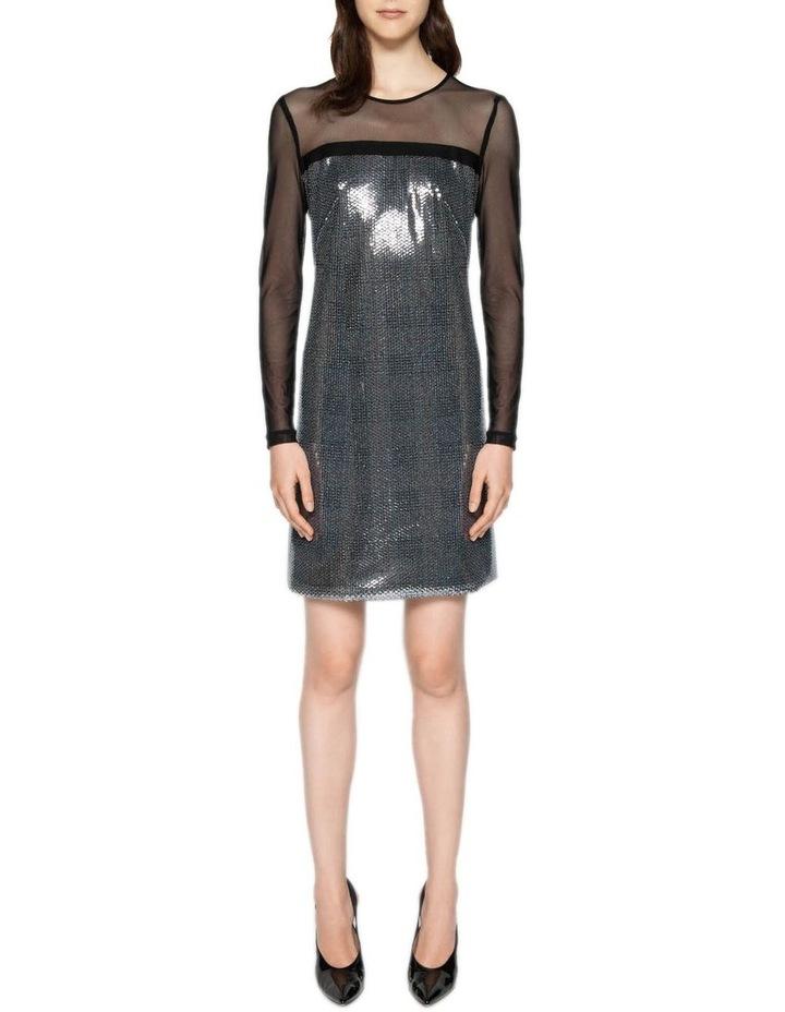Sequin Check Shift Dress image 1