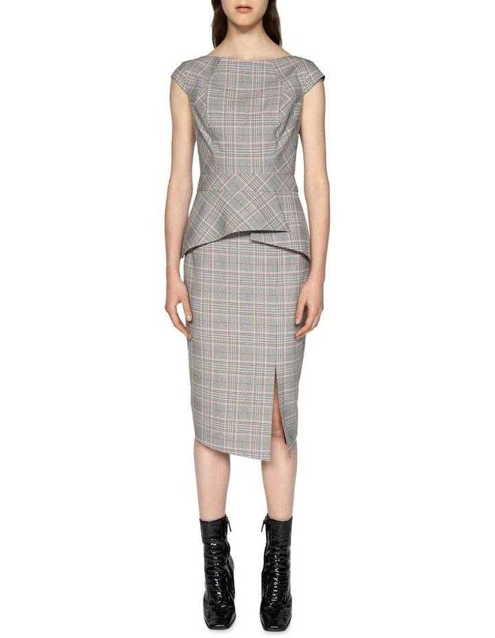 Houndstooth Split Front Skirt image 1