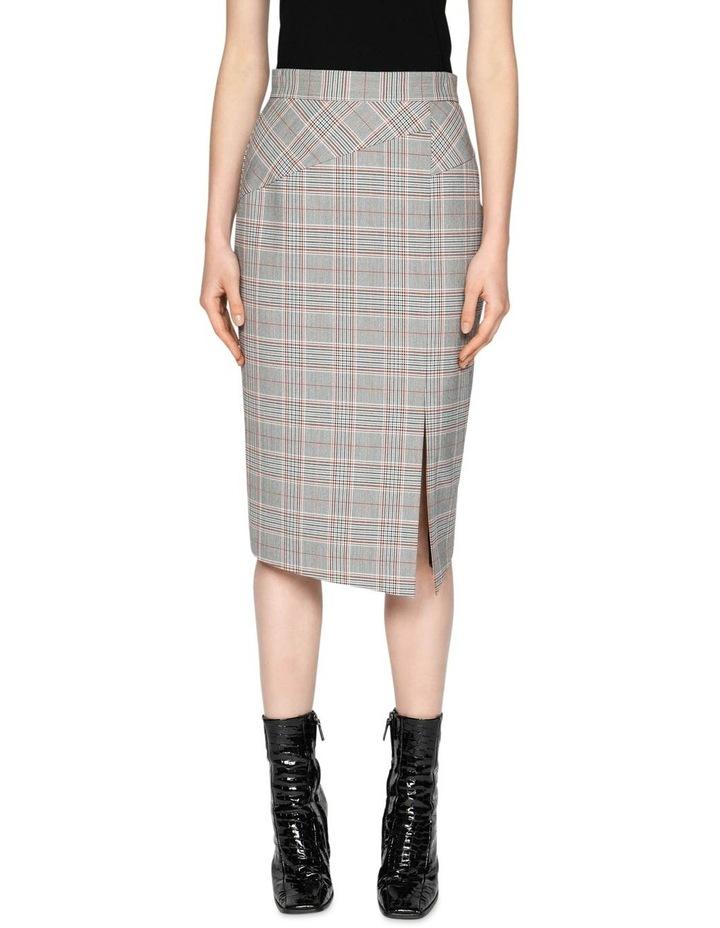 Houndstooth Split Front Skirt image 2