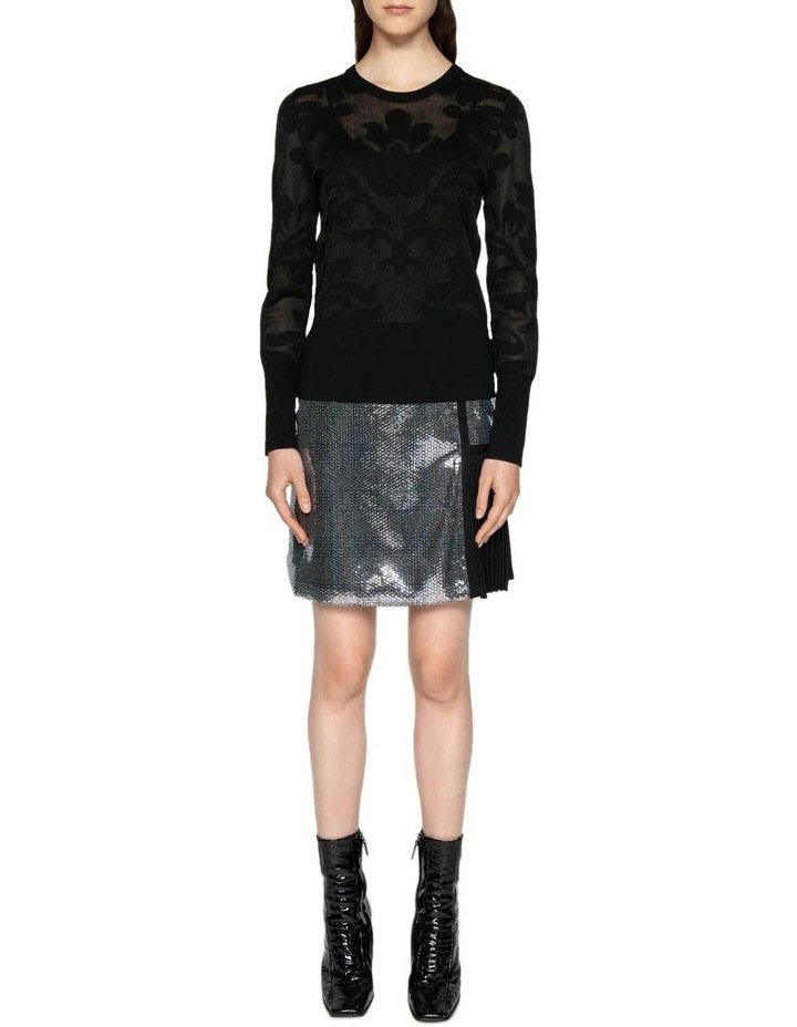 Sequin Check A-Line Skirt image 1