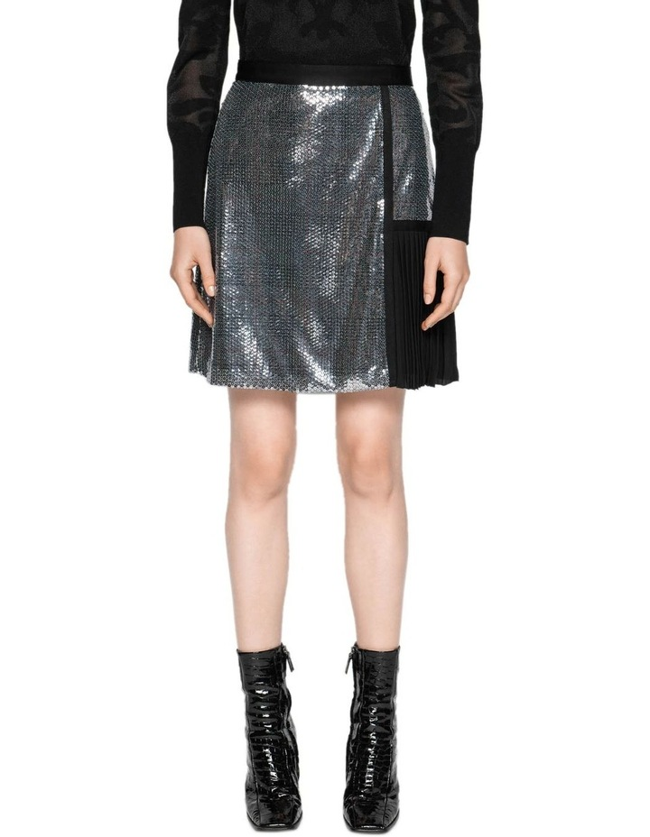 Sequin Check A-Line Skirt image 2