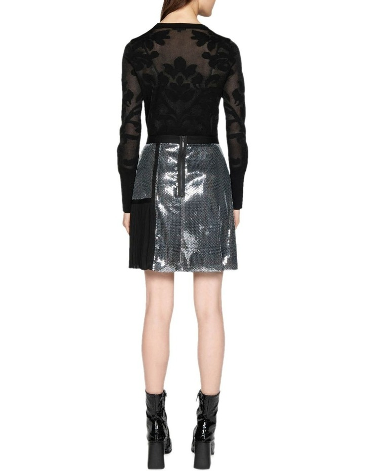 Sequin Check A-Line Skirt image 3