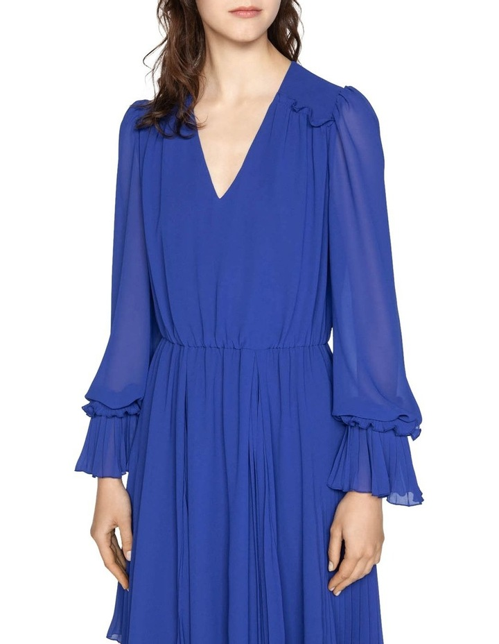 Cobalt Chiffon Pleated Dress image 2