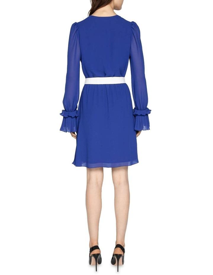 Cobalt Chiffon Pleated Dress image 3