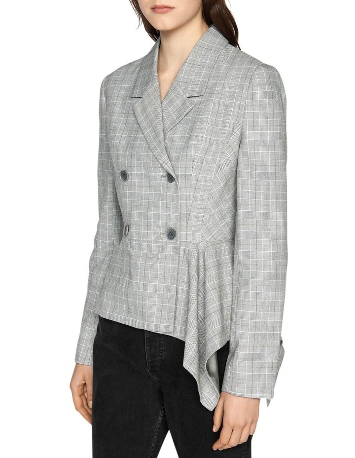 Check Double Breasted Draped Jacket image 2