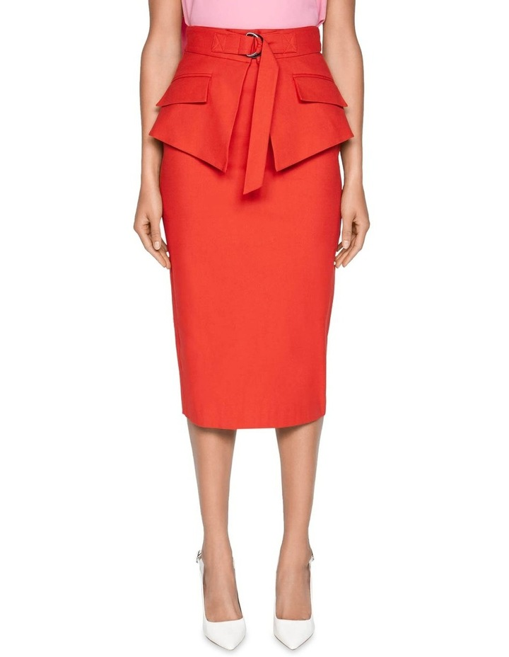 Belted Peplum Pencil Skirt image 2