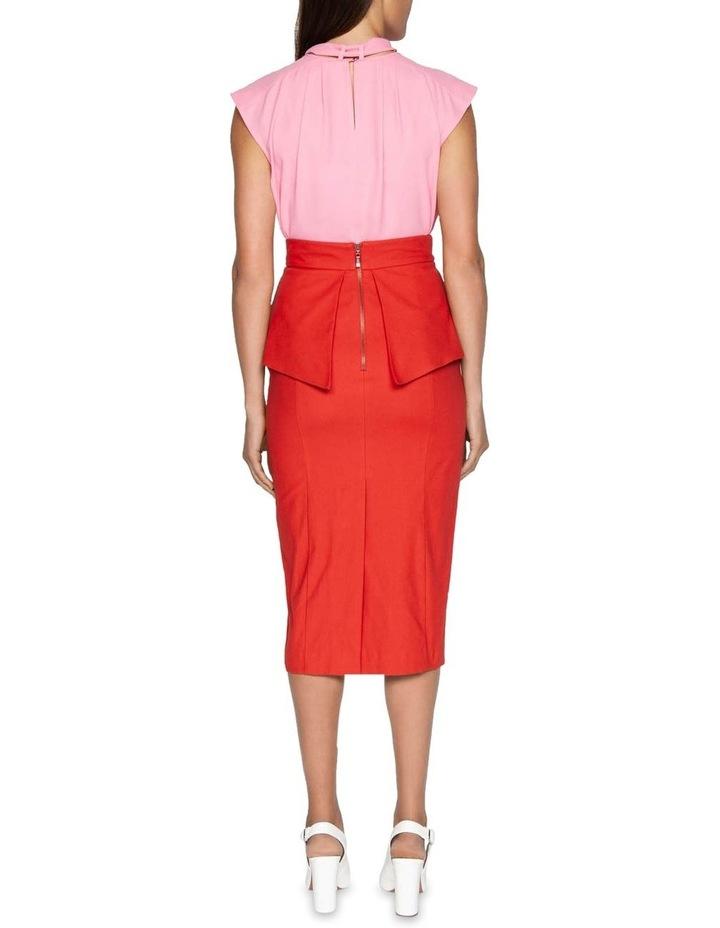 Belted Peplum Pencil Skirt image 3