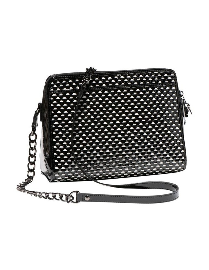 Monochrome Leather Cross Body Bag image 2