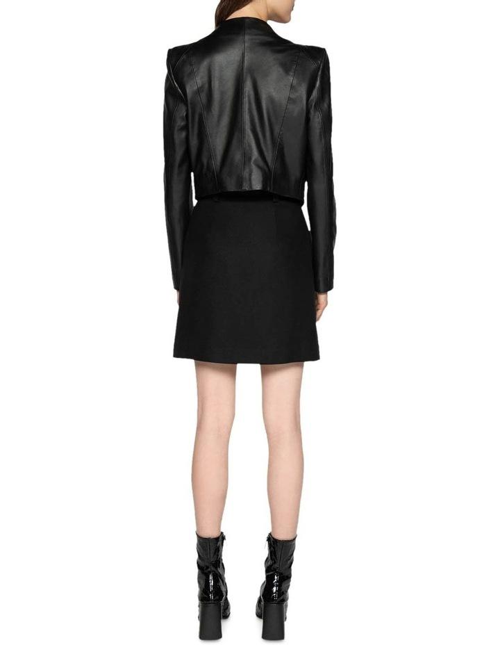 Leather Collarless Jacket image 3