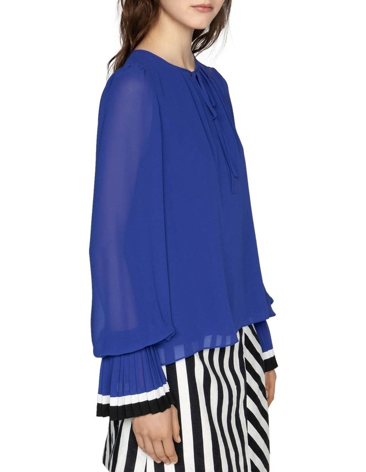 Georgette Pleated Cuff Blouse image 2