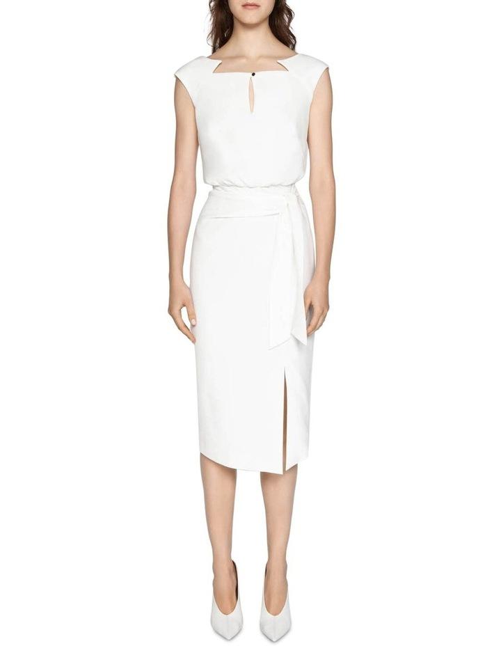 Ivory Sculptured Pencil Dress image 5