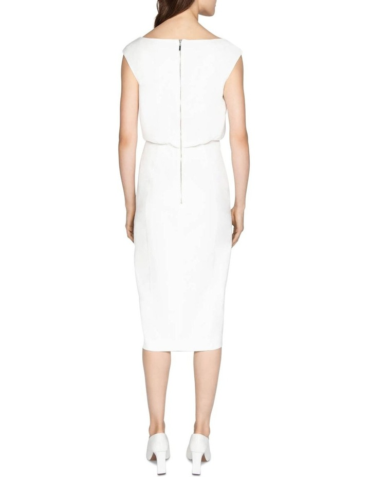 Ivory Sculptured Pencil Dress image 7