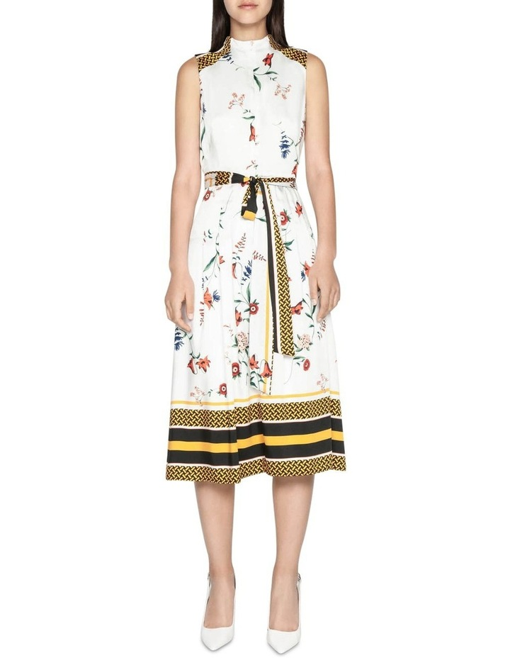 Scarf Print Midi Dress image 1